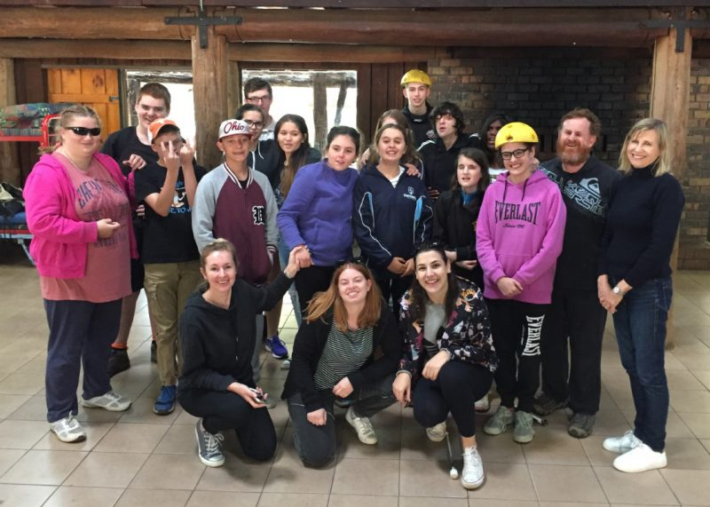 Group image of the adventurous campers and Visability Staff at SALSA Camp