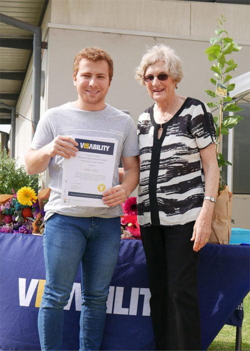 Steffan Nero with Anne Barton