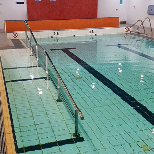 Image shows the inside hydrotherapy pool at Victoria Park.