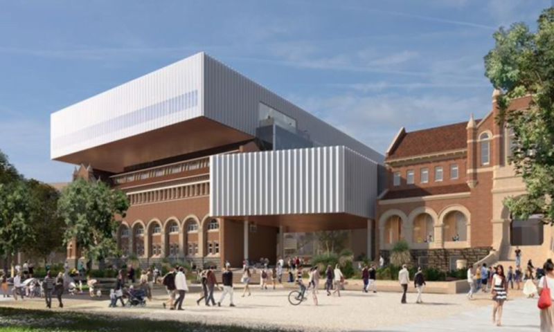 Artist impression of the new museum from the outside