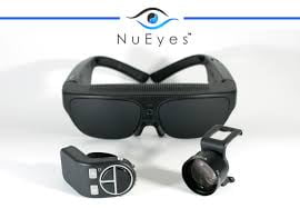 Photo of the NuEyes Pro glasses to assist with low vision