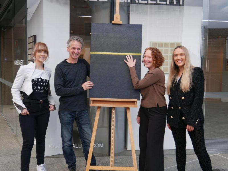 VisAbility's Braille Officer Leone Carroll and Art Therapist Robyn Laycock were involved in the exhibition