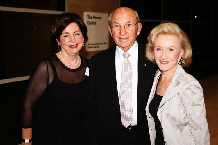 Stan and Jean Perron with Association of the Blind former CEO Dr Margaret Crowley at the official naming of the Perron Centre in 2010