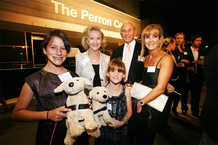 Stan and Jean Perron AM with family members at the official naming of the Perron Centre in 2010.