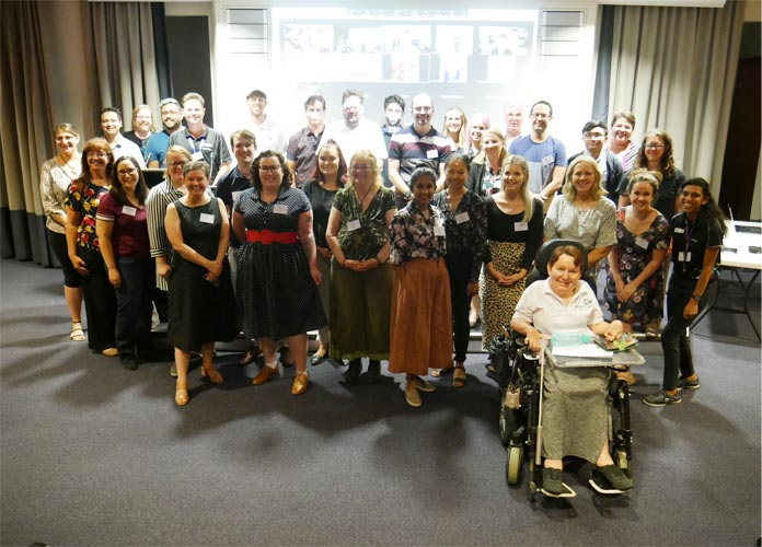 Group photo of attendees at the Web Accessibility Camp